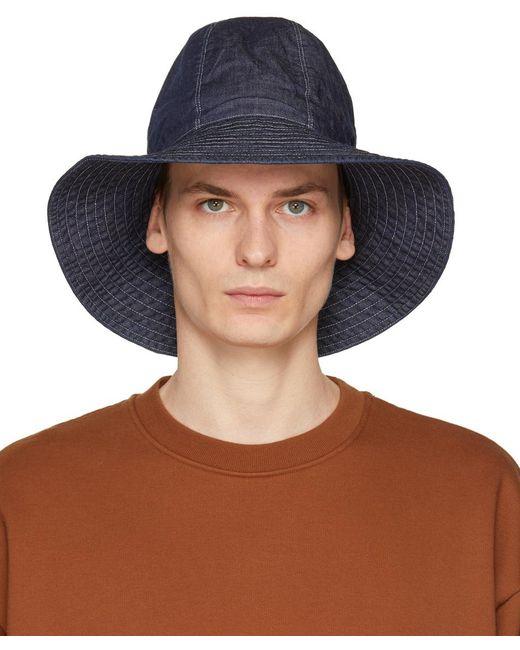 メンズ Engineered Garments インディゴ Dome ハット Blue