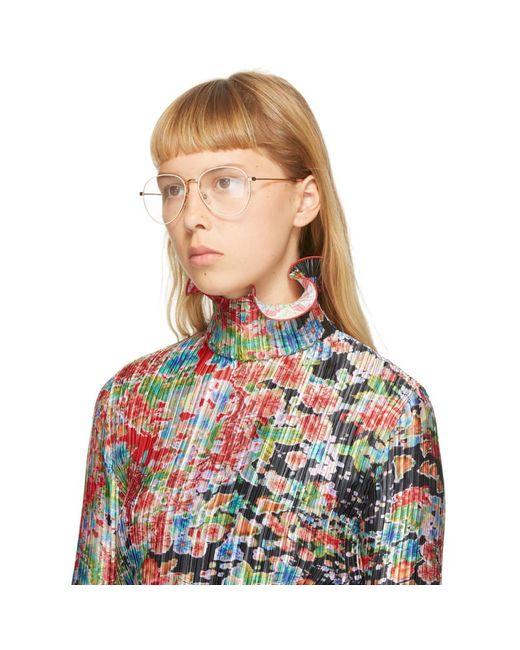 Givenchy ローズ ゴールド スタッド エッジ メガネ Multicolor