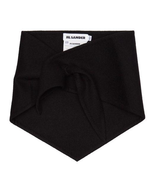 Jil Sander - Black Foulard en cachemire noir for Men - Lyst