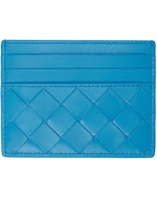 Bottega Veneta ブルー Intrecciato カード ケース Blue