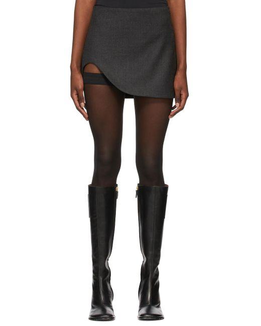 Maximilian Gray Grey Slone Mini Skirt