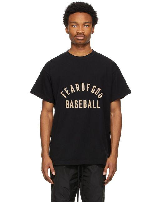 メンズ Fear Of God ブラック Baseball T シャツ Black