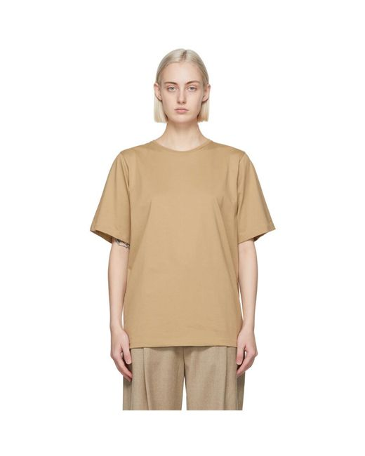 Totême  ベージュ オーガニック コットン オーバーサイズ T シャツ Natural