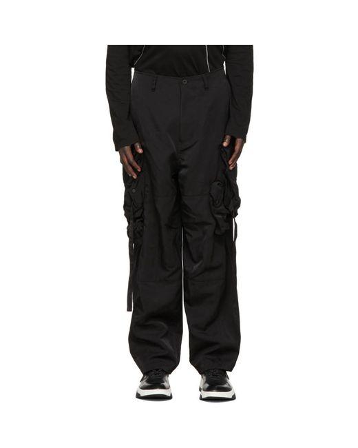 メンズ Julius ブラック Gasmask カーゴ パンツ Black