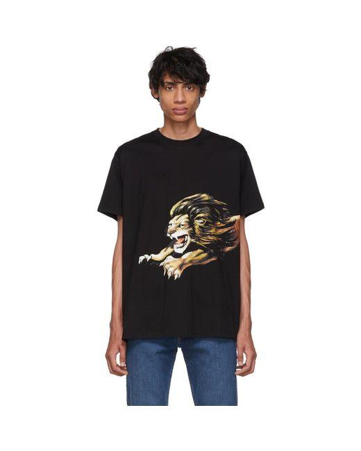 メンズ Givenchy ブラック オーバーサイズ レオ T シャツ Black