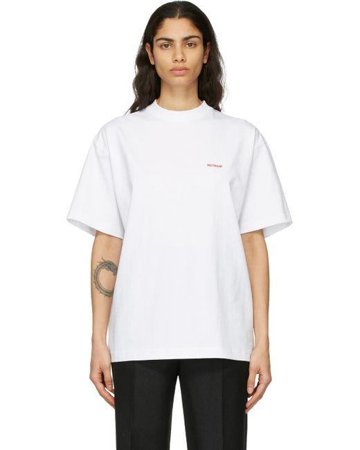 we11done ホワイト ロゴ T シャツ White