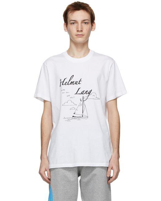 メンズ Helmut Lang Ssense 限定 Saintwoods エディション ホワイト T シャツ White