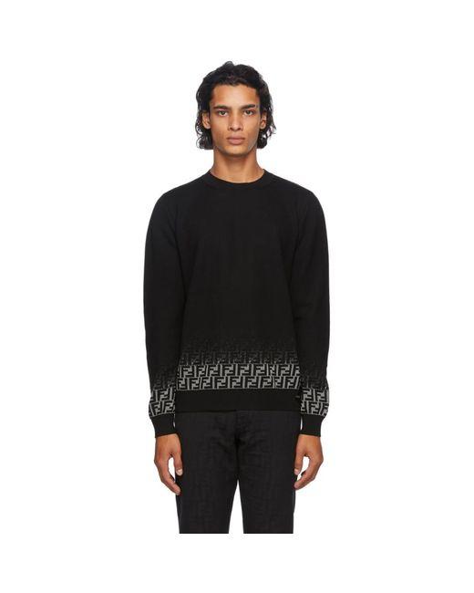 メンズ Fendi ブラック Degrade Forever セーター Black