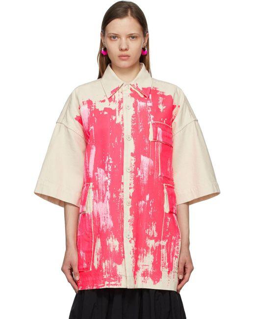 Marni ベージュ & ピンク コート Pink