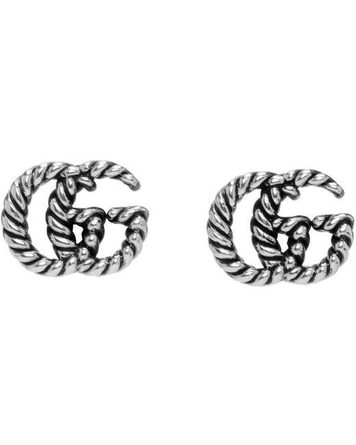 Gucci シルバー GG Marmont ピアス Metallic