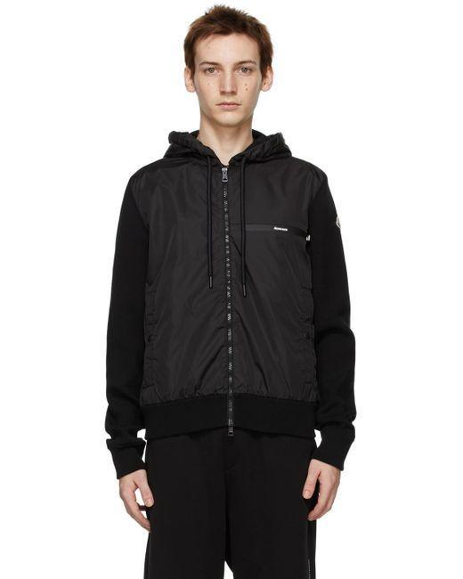 メンズ Moncler ブラック ジャケット Black