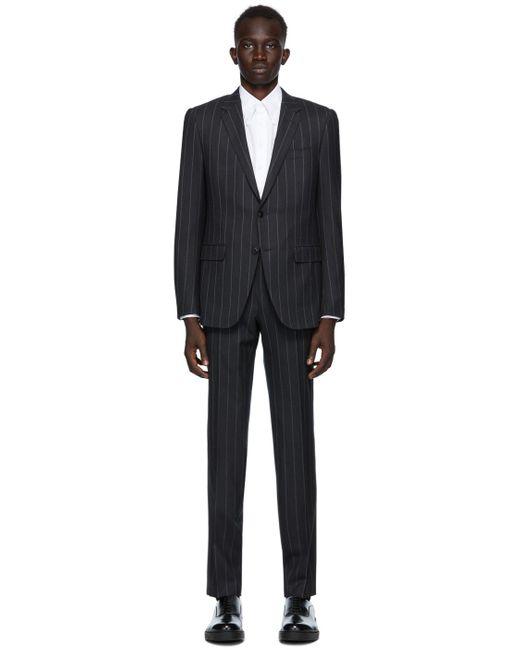 メンズ Ermenegildo Zegna グレー ストライプ City スーツ Gray