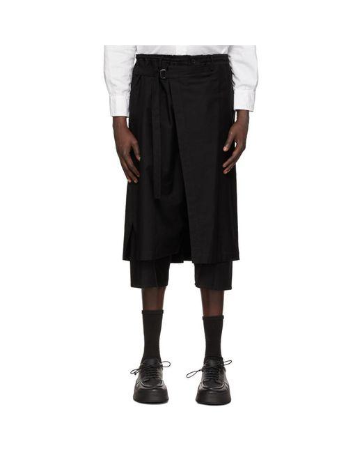 メンズ Yohji Yamamoto ブラック トラウザーズ Black