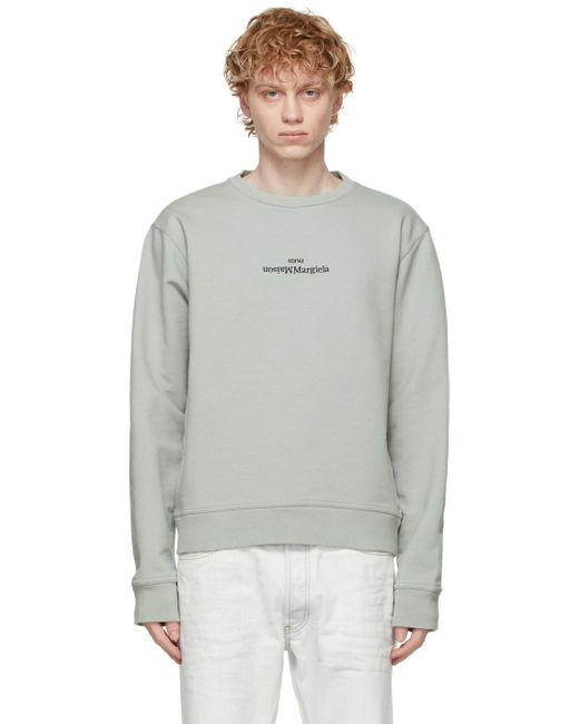 メンズ Maison Margiela グレー ロゴ スウェットシャツ Gray