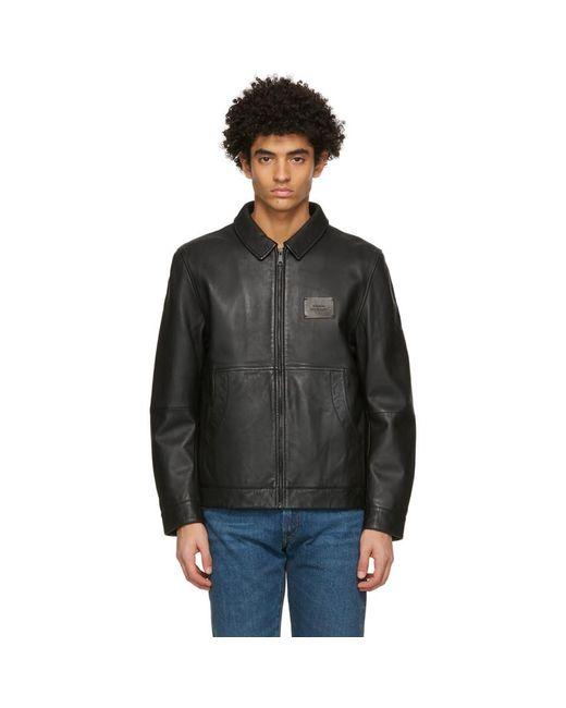 メンズ Saturdays NYC ブラック Harrington ジャケット Black