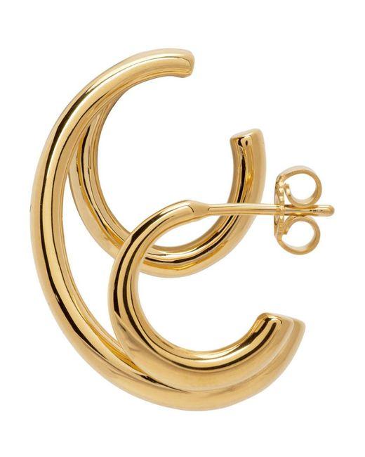Boucle doreille doree Triplet Charlotte Chesnais en coloris Metallic