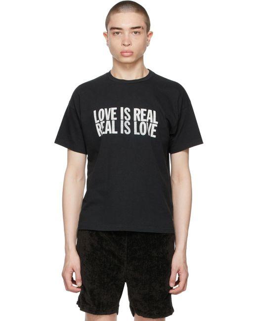 メンズ Remi Relief ブラック Love Is Real T シャツ Black