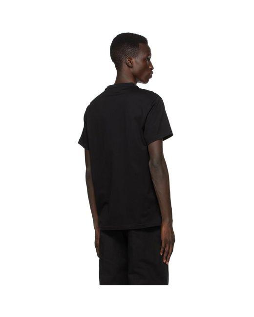 メンズ Burberry ブラック Tb モノグラム New Parker T シャツ Black