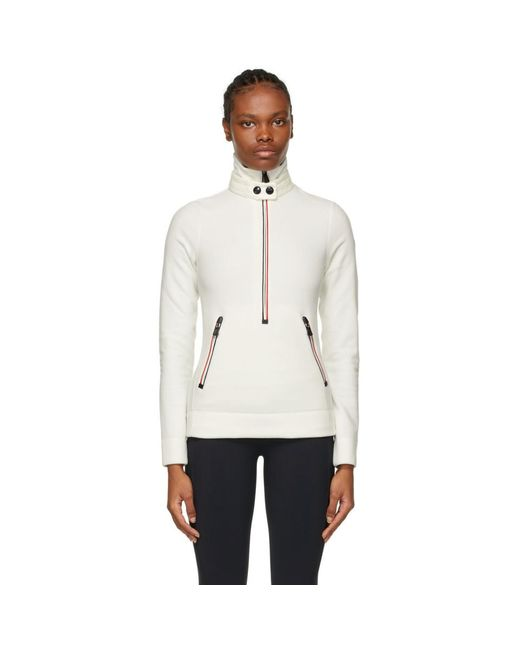 3 MONCLER GRENOBLE ホワイト スウェットシャツ White