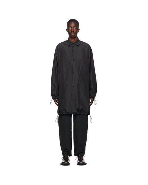 メンズ Bottega Veneta ブラック テクニカル オーバーサイズ コート Black