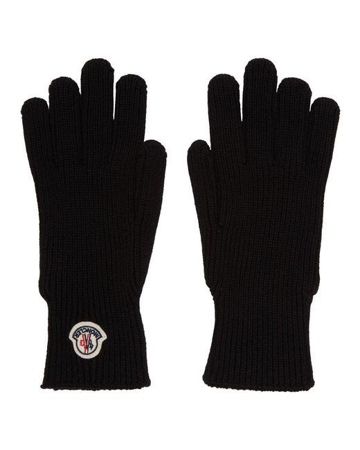 Gants en laine noirs Moncler pour homme en coloris Black