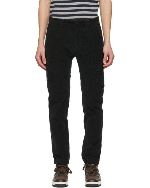 メンズ C P Company ブラック カーゴ パンツ Black
