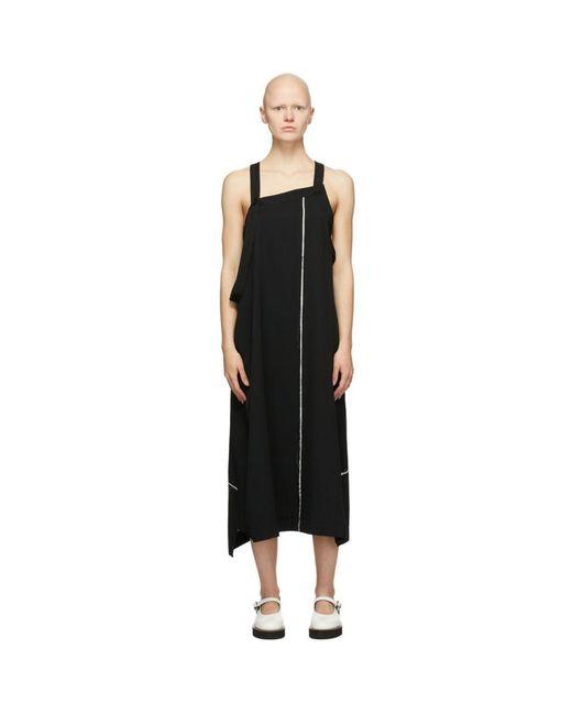 Y's Yohji Yamamoto ブラック ウール Apron ドレス Black