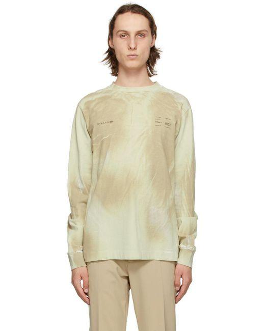 メンズ 1017 ALYX 9SM ベージュ ダブル ロゴ プリント スウェットシャツ Natural