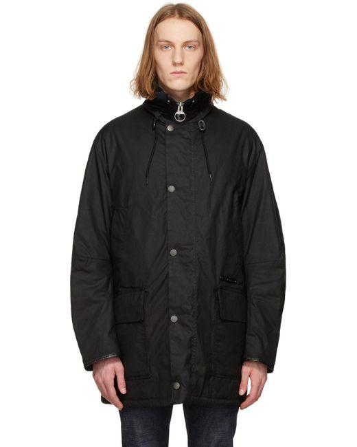 メンズ Barbour Gold Standard コレクション ブラック Supa-border ジャケット Black