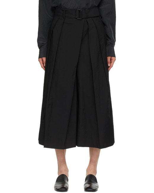 Lemaire ブラック Asymmetrical バミューダ ショーツ Black