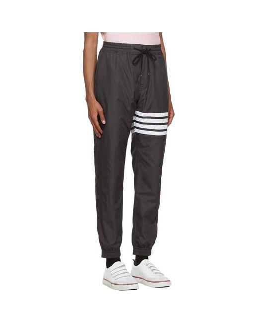 Thom Browne Gray Grey Flyweight Tech 4-bar Track Lounge Pants for men