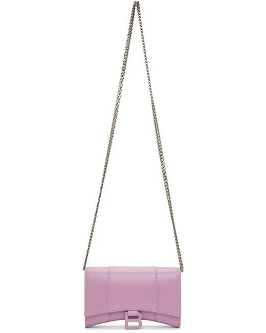 Balenciaga パープル Hourglass ウォレット バッグ Purple