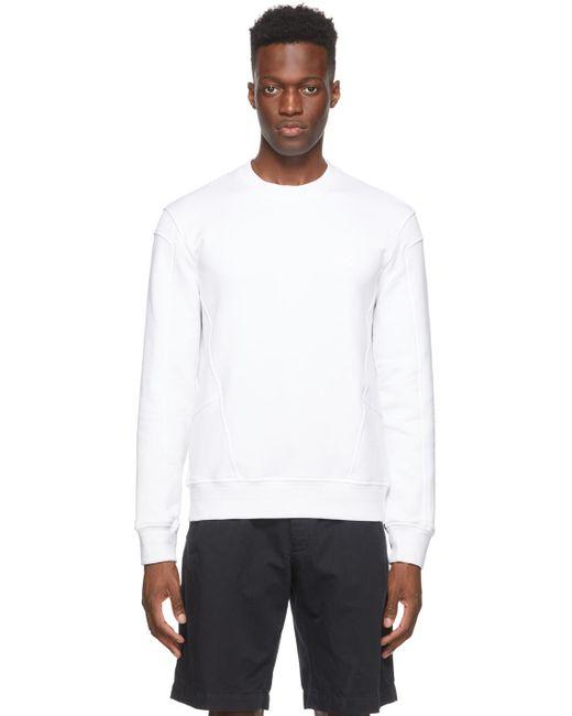 メンズ Ermenegildo Zegna ホワイト ロゴ スウェットシャツ White