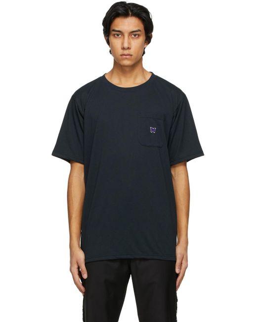 メンズ Needles ブラック ロゴ T シャツ Black