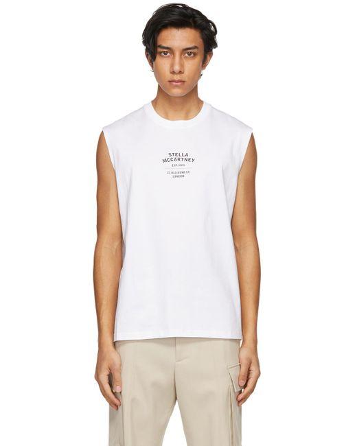 メンズ Stella McCartney Shared コレクション ホワイト Obs 23 ノースリーブ T シャツ White