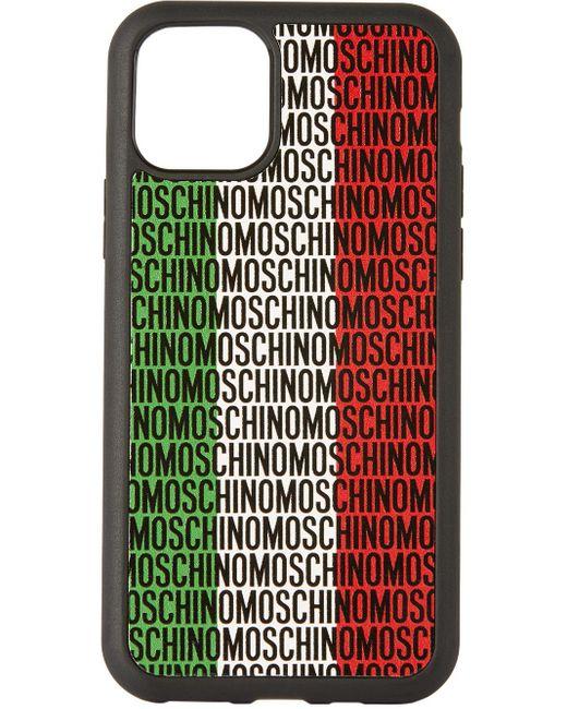 メンズ Moschino ブラック イタリアン ロゴ Iphone 11 Pro ケース Multicolor