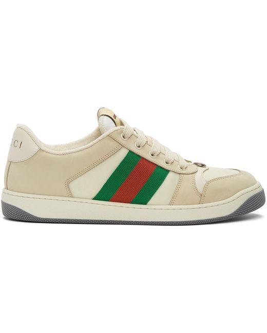 Gucci Off-white Screener Sneakers for men