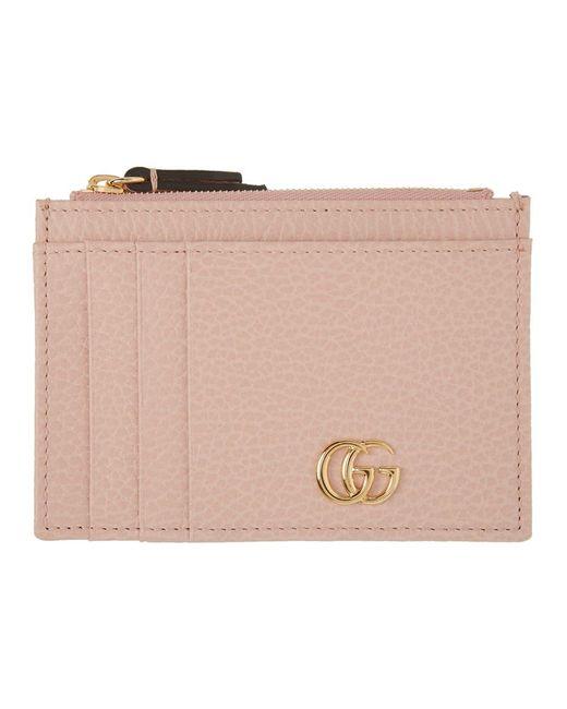 Gucci ピンク GG マーモント カード ホルダー Pink