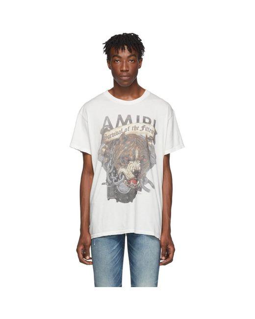 メンズ Amiri ホワイト Pitbull T シャツ White