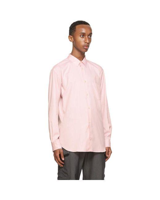 メンズ Comme des Garçons ピンク オックスフォード Forever シャツ Pink