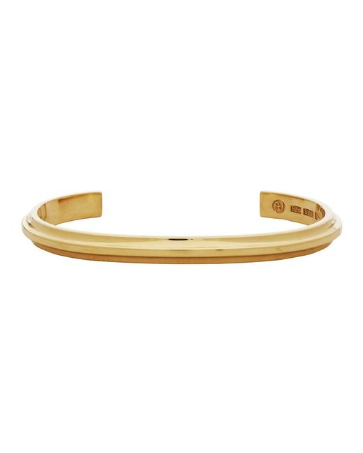 All_blues Metallic Gold Polished T Beam Bracelet for men