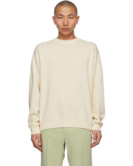 メンズ Wooyoungmi オフホワイト ロゴ セーター White