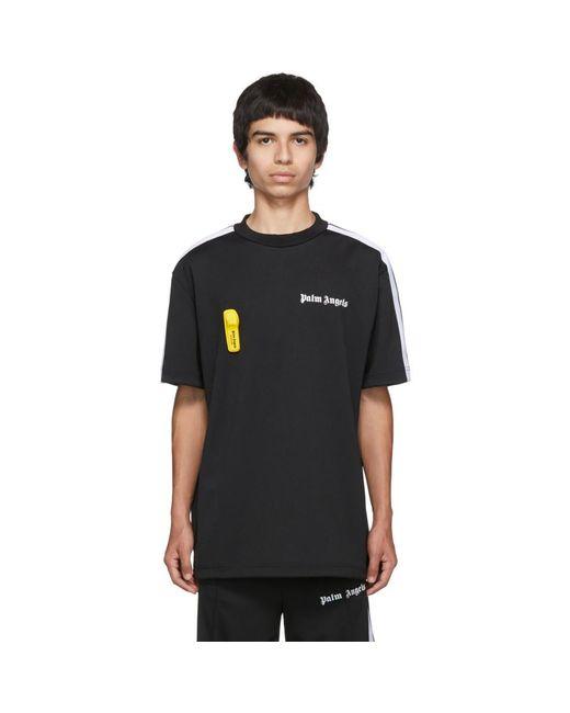 メンズ Palm Angels ブラック ニュー ベーシック T シャツ Black