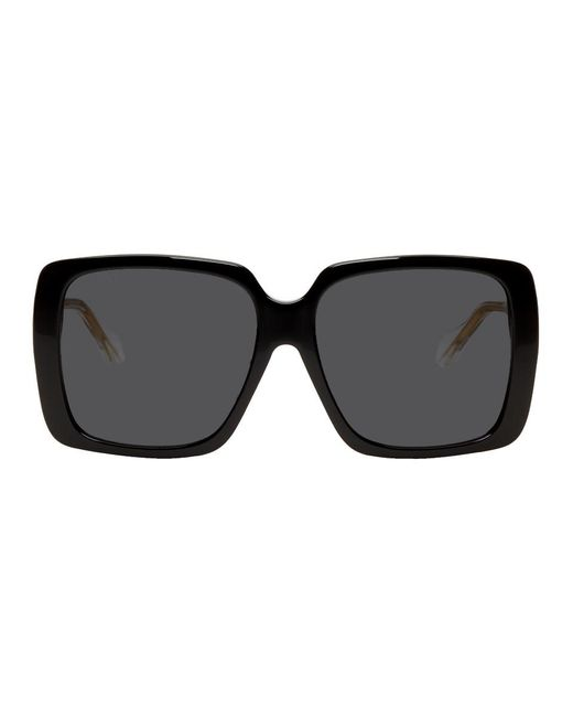 Gucci ブラック And トランスペアレント スクエア サングラス Black