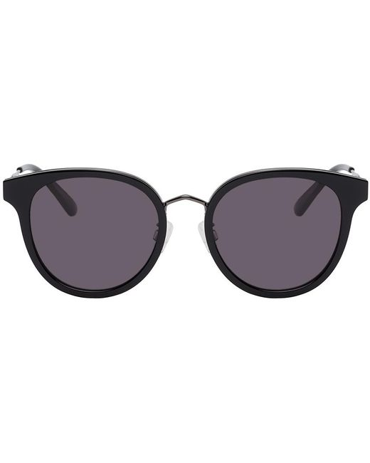 McQ Alexander McQueen ブラック ラウンド Iconic サングラス Black