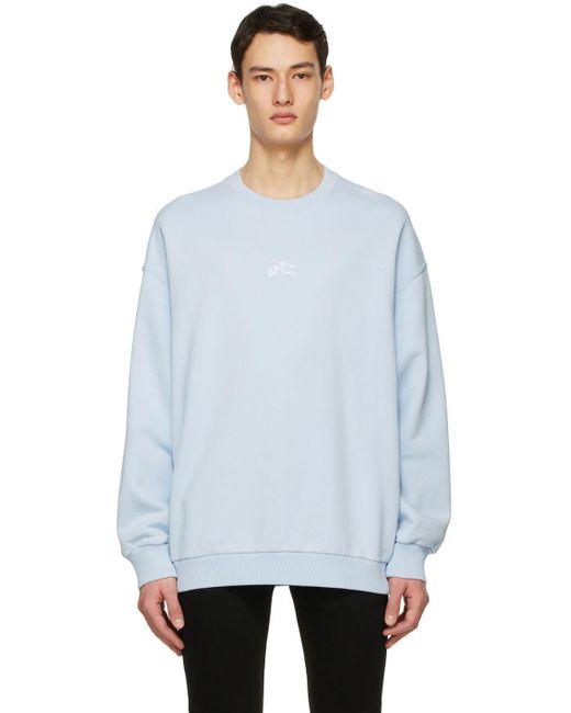 メンズ Givenchy ブルー Refracted スウェットシャツ Blue