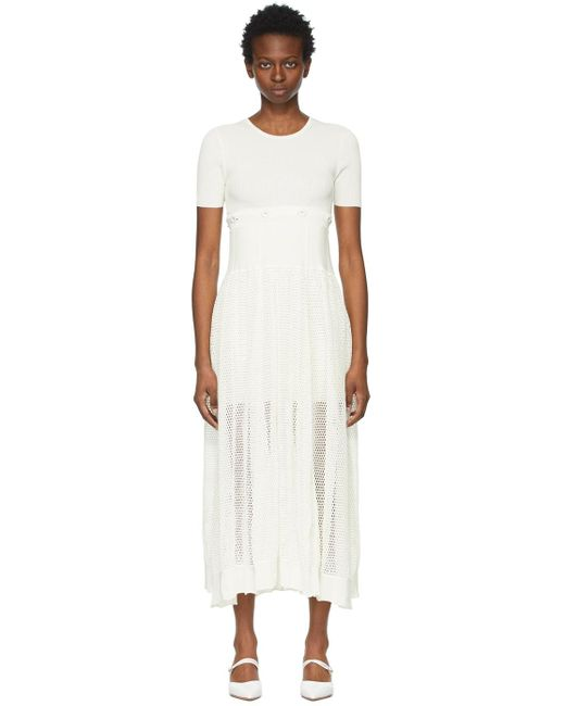 Christopher Esber ホワイト Deconstruct Cocoon Tee ドレス Natural