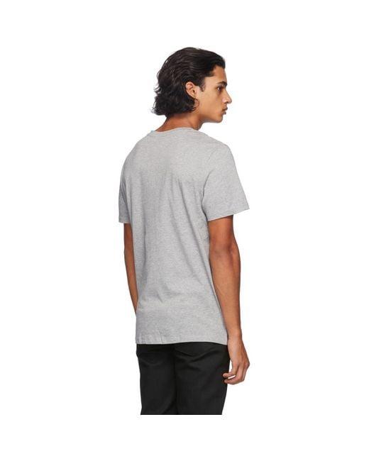 メンズ A.P.C. グレー ロゴ T シャツ Gray