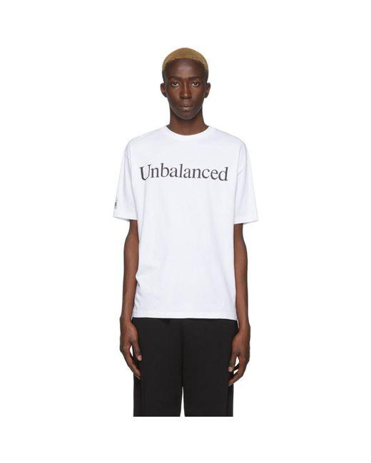 メンズ Aries New Balance Edition ホワイト Unbalanced T シャツ White