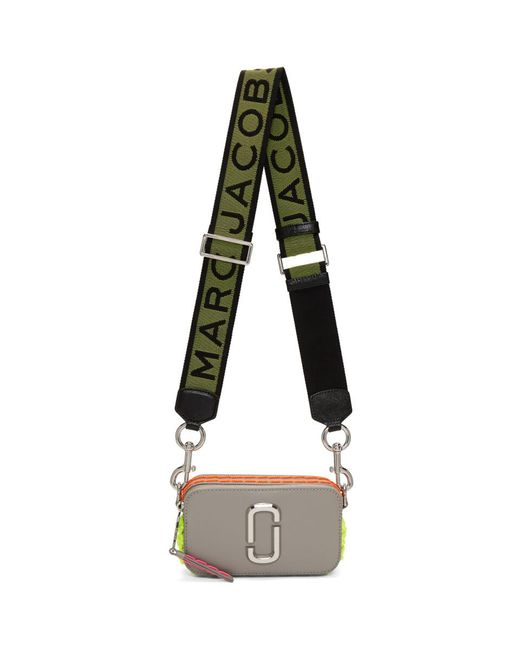 Marc Jacobs - Gray Grey Small Whipstitched Snapshot Bag - Lyst